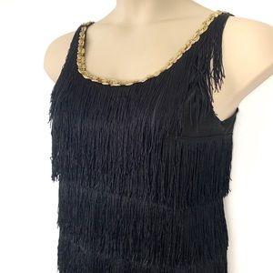 Flapper 1920s Fringe Dress Halloween Gatsby Black